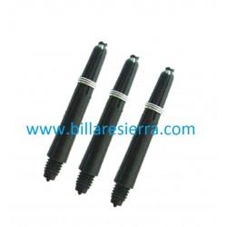 Cañas PVC negro (3 unidades)
