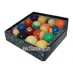 Juego bolas Pool Fluorescente 57 mm