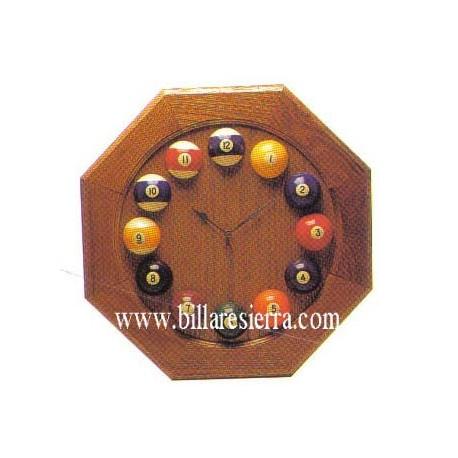 Reloj Billar en Madera de Roble