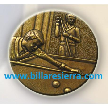 Medalla billar (oro, plata o bronce) 5.5 cm