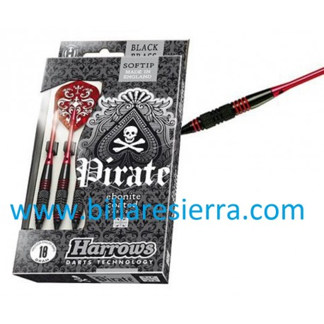 Juego Dardos Harrows Pirate 18g.