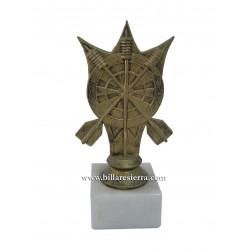 Trofeo figura dardos - Diana