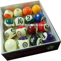 Juego bolas pool números grandes