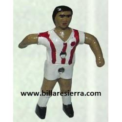 Muñeco Futbolin Sierra Pintado Rojo y Blanco