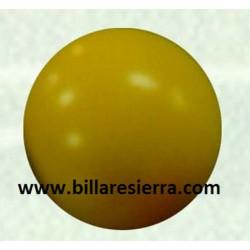 Bola futb. alta dureza amarilla 34mm, 36gr