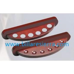 Taquera madera oval 2P /6 tacos
