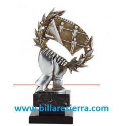 Trofeo futbolín mano laurel