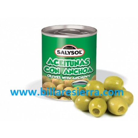 Lata Aceitunas con anchoas Salysol