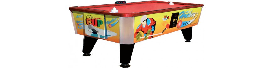 air hockeys, air play, coin operators